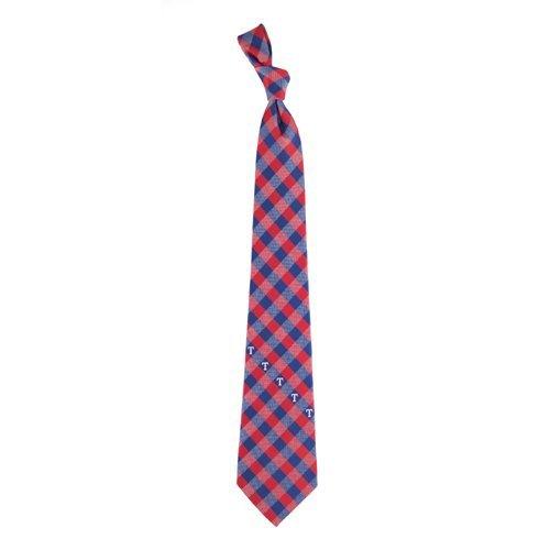 Texas Rangers Check Poly Necktie