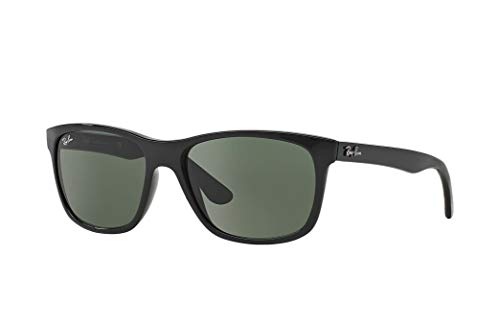 (Ray-Ban RB4181 Sunglasses Black/Crystal Green, One Size)