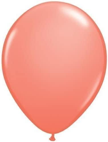 Qualatex 11 Inch Solid Colour Latex Balloons Helium//Air CORAL