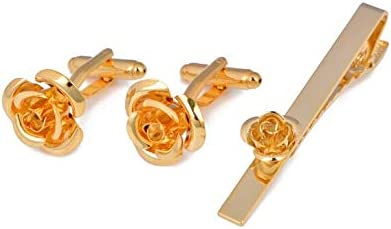 Gemelos de Oro Conjunto de Clip de Corbata Gemelos con Forma de ...