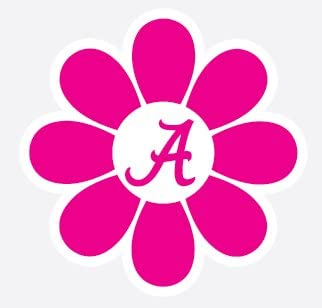 Alabama with Flowers Decal
