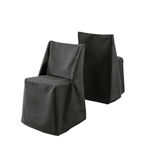 Chair Cotton Slipcover Solid Dining (SureFit Duck Solid - Folding Chair Slipcover - Rich Black)