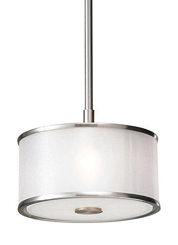 Feiss P1137BS 1 Bulb Pendant, Brushed Steel Finish