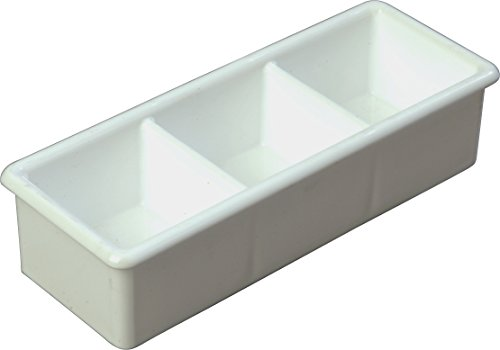 Carlisle Apron Service Food (Carlisle 455202 Styrene Three Compartment Sugar Caddy, White)