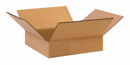 """Aviditi 662 Heavy-Duty Double Wall Corrugated Cardboard Box 6"""" L x 6"""" W x 2"""" H, Kraft, for Shipping, Packing and Moving (Pack of 25)"""