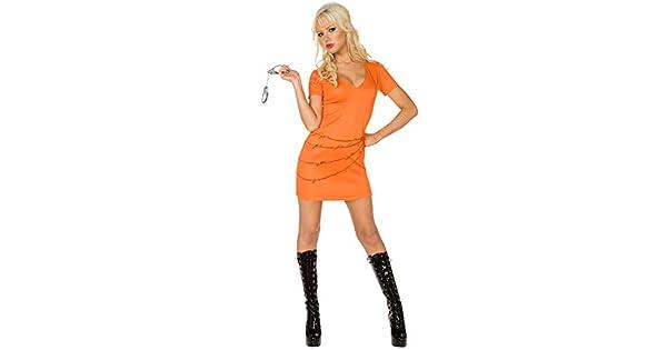 Amazon.com: Womens prisionero traje de color naranja tamaño ...