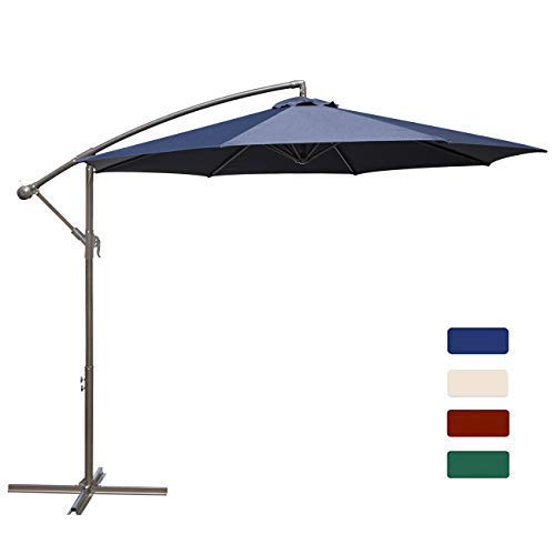 HASLE OUTFITTERS Offset Patio Umbrella 10FT Cantilever Umbrella Outdoor Market