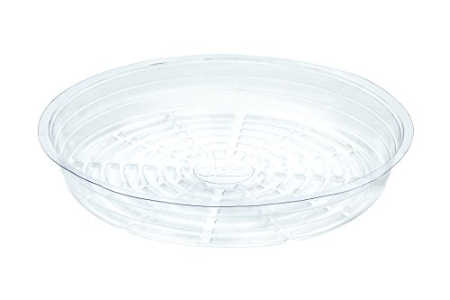 My Garden Kit Clear Plant Saucers 14 Inch Pack of 5 Great For Indoor Outdoor Flower Pot Drip Tray (5) by My Garden Kit