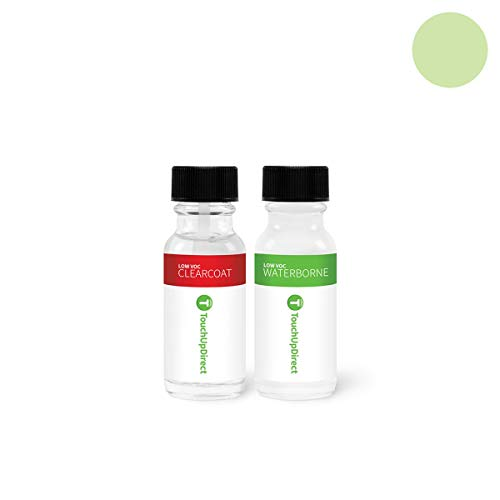 TouchUpDirect Exact Match Automotive Touch Up Paint Compatible with Toyota Pistachio Effect (6U0) Jar - Essential Package