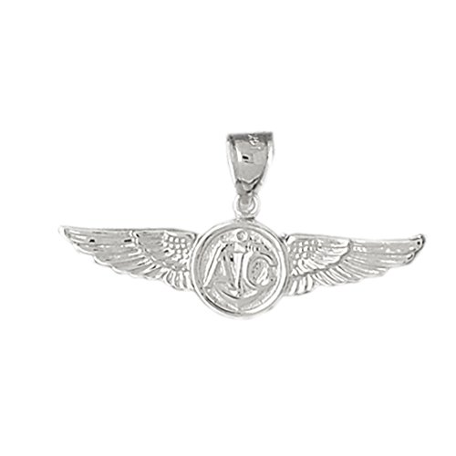 Gold United States Air (14k White Gold United States Navy Pendant)