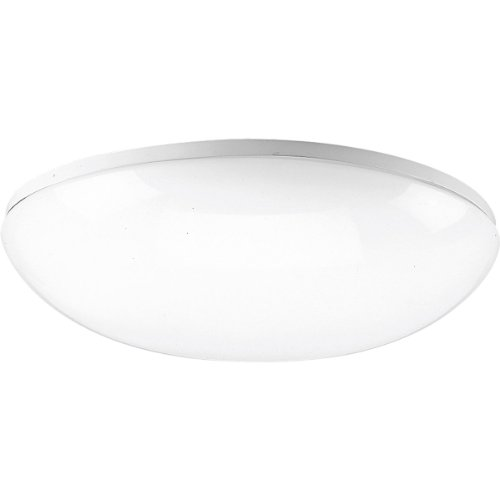 Progress Lighting P7384-30 White Contoured Acrylic Clouds with Twist On Installation For Wall Or Ceiling Mount with Standard 120 Volt Normal Power Factor Ballasts, White