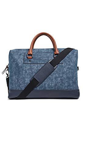 Ted Baker Men's Nubuck Document Bag, Navy, Blue, One ()