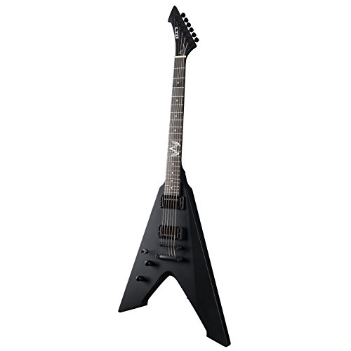 ESP LTD James Hetfield Signature Series Left Handed Vulture Electric Guitar with Hard Case, Black Satin