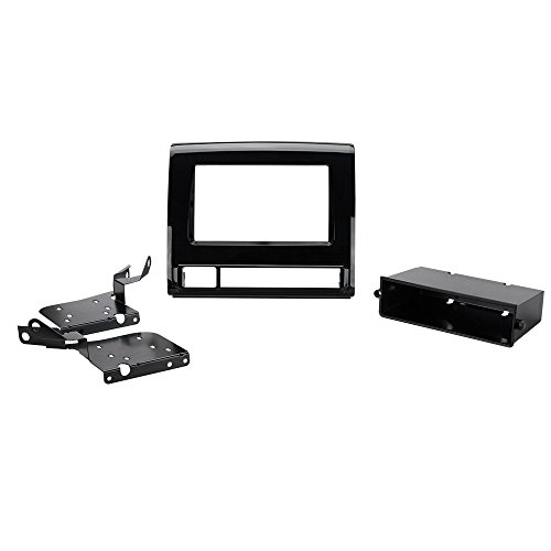 (Scosche TA2111BPB 2012-13 Toyota Tacoma Double/Single or DIN with Pocket Install Dash Kit)
