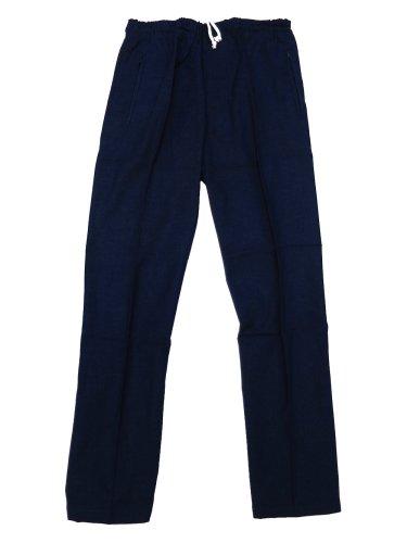遺棄された決定的寛大な【義若】オリジナルの股引き型ズボン【むら染め生地?紺】 男女兼用