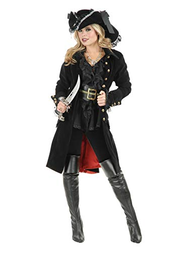 - Adult Pirate Vixen Coat Black Costume 5-7