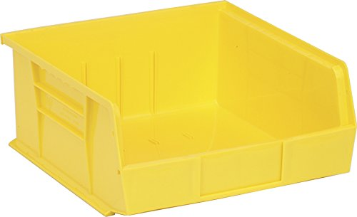 Quantum Storage Yellow Shelf (Quantum QUS235 Plastic Storage Stacking Ultra Bin, 10-Inch by 11-Inch by 5-Inch, Yellow, Case of 6)