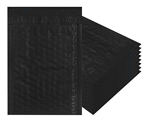 Black Poly Bubble mailers 10.5 x 15 Padded envelopes 10 1/2 x 15 by Amiff. Pack of 10 Poly Cushion envelopes. Exterior Size 11x16 (11 x 16). Peel and Seal. Mailing, Shipping, Packing, Packaging.