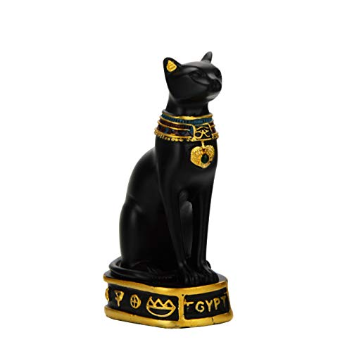 NileCart Egyptian Bastet Collectible Figurine Cat Goddess Statue - Made in Egypt (Small 3.5 inches Tall)