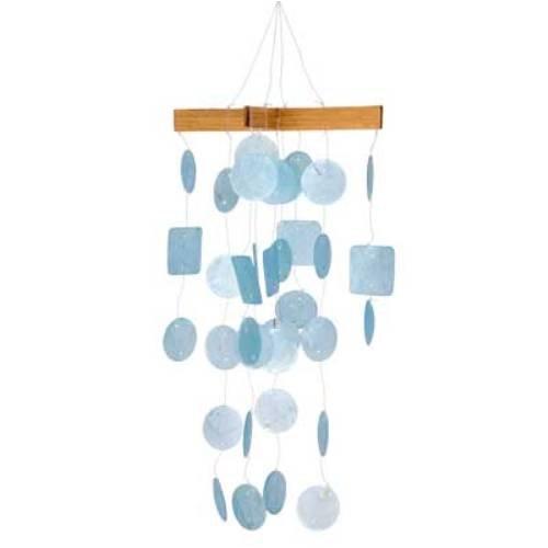 Woodstock Percussion Mini Capiz Wind Chime - Light Blue