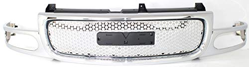 Grille Assembly Compatible with 2003-2006 GMC Sierra 1500 Chrome Shell and Insert with Denali Pkg (Grill Denali Gmc Sierra)