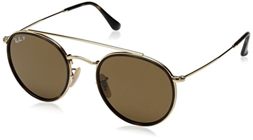 Amazon.com: Ray-Ban RB3647N Round Double Bridge Sunglasses ...