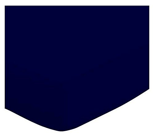 SheetWorld Crib / Toddler Sheet - Solid Navy Jersey Knit ...