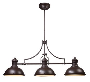 Landmark Tiffany Kitchen Island (ELK Lighting 66135-3 Chadwick 3-Light Billiard Light, 21-Inch, Oiled)