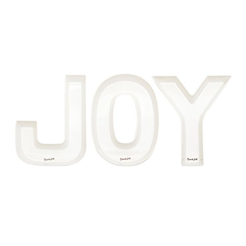 Ceramic Joy (French Bull 3 Piece Word Snack Dishes - Melamine Dinnerware - Candy Dish, Serving, Chips - JOY)