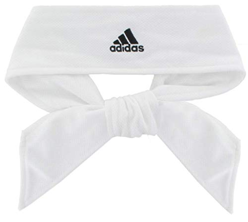 adidas Tennie Tie II Hairband, White/Black, One Size