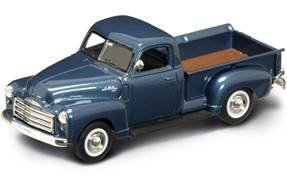 1950 GMP Pickup Truck Dark Blue 1/43 Diecast Model Car by Yat Ming 94255