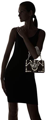 perle Spallaccio Limousine Pearls Sacs Velluto Love Mini Pinko C épaule Nero Velvet portés Noir 401tXq