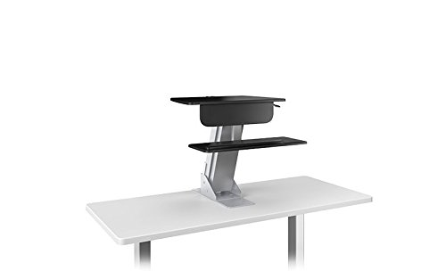 LIFT Sit-Stand Workstation Height Adjustable Pneumatic Column, Silver: ESI Ergo LIFT-SLV (1 Sit-to-Stand Station)