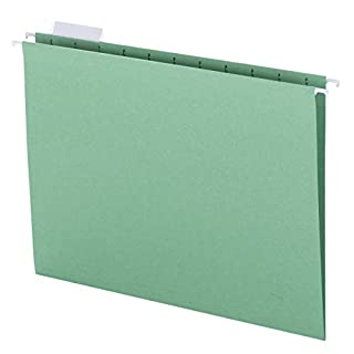 Smead Colored Hanging File Folder with Tab, 1/5-Cut Adjustable Tab, Letter Size, Green, 25 per Box (64061) (B00006IF4I) | Amazon price tracker / tracking, Amazon price history charts, Amazon price watches, Amazon price drop alerts