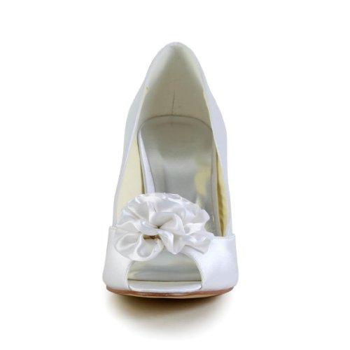 Jia Jia Wedding A31B12A Hochzeitsschuhe Brautschuhe Damen Pumps Weiß