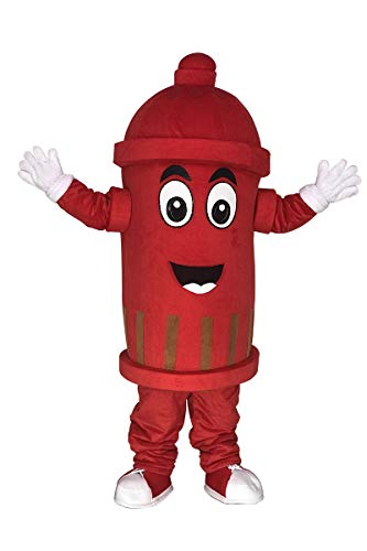 rushopn Adult Red Public Utilities Fire Hydrant Mascot Costumes
