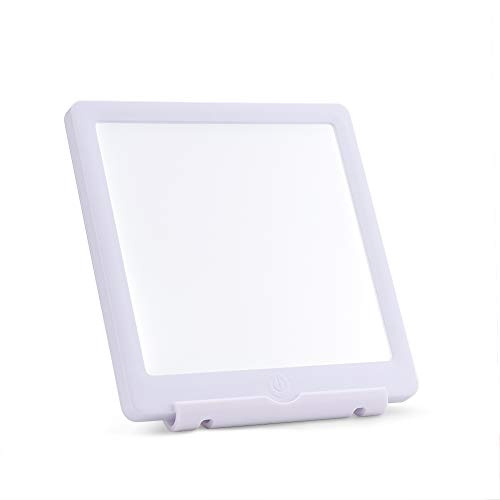 SUNY Portable Touch Control Happy Light 10,000 LUX Ultra Bright LED White Light Therapy Energy Lamp with 2 Adjustable Natural Daylight Levels for Office Workers, Late Shifts, Jet Lag, ()