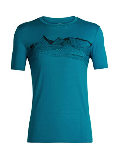 Icebreaker Merino Mens Tech Lite T-Shirt W/Graphic, New Zealand Merino Wool