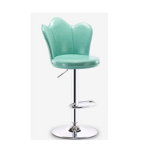 (Bar Stool Green Height Adjustable Bar Chairs360 Swivel Kitchen Stool with Backrest and Footrest Chrome Retro Light Home Lounge Chair (Color : Sky Blue) )