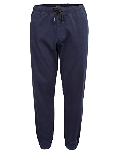 PAUL JONES Mens Dance Training Twill Chino Drop Crotch Harem Pants Size L Navy (Jones Men Pants)