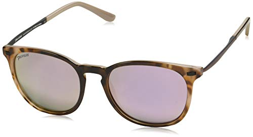 Pepper's Women's Nolita Polarized Oval Sunglasses Bengal Tortoise w. Antique Plum temples 53 mm