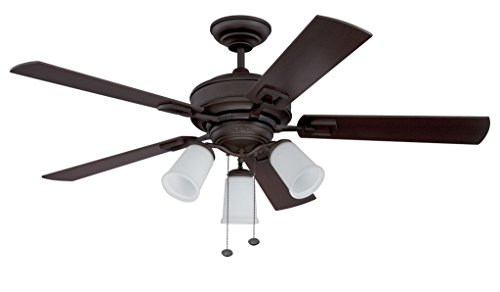 "Litex E-MPS52EB5C3 Domenico 52"" Etruscan Bronze Ceiling Fan"