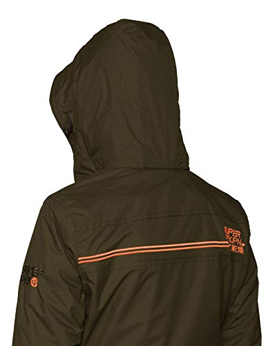 Superdry Zip Sport De Pop WindcheaVeste Femme Arctic black Olive Ex6 Hooded Vertdeep E9D2IH