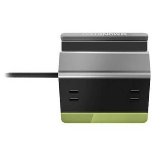 Monster Power Small Home Charging Station-4 USB Ports, Phone + Tablet Stand, 6 Cord