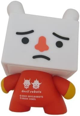 """Kidrobot Dunny Series 2009 """"Red Tofu"""" By Devilrobots"""
