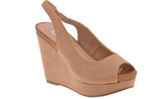 New Milano Shoes Wedge Beige 100 100 Ladies Kiilaa F Hyvät Milano Uutta F Blunt Pump Pumppaa Tylppää Beige Kengät U5qwYt8t