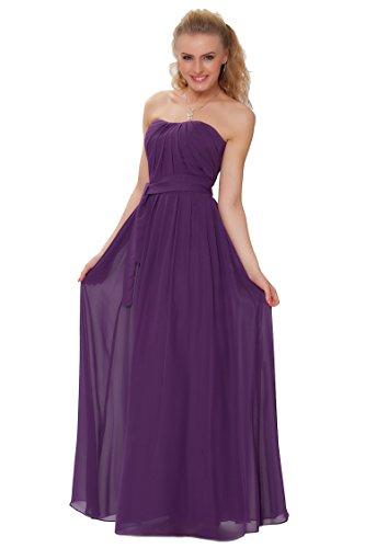 SEXYHER Gorgeous Encuadre de cuerpo entero sin tirantes de las damas de honor vestido de noche formal - EDJ1442 Lila