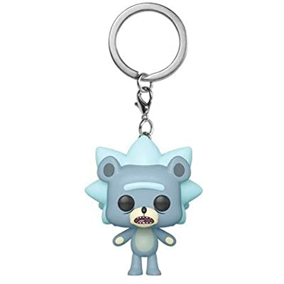 Funko Rick and Morty Teddy Rick Pop Keychain Figure: Toys & Games