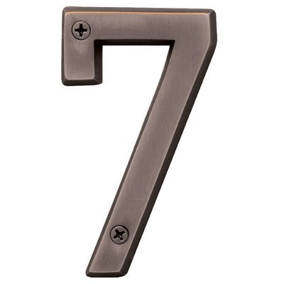"Hy-Ko BR-420WB/7 4"" Bronze #7 House Number from Hy-ko"