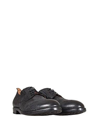 MOMA Zapatos de Cordones de Piel Para Hombre Negro Negro Negro Size: 44